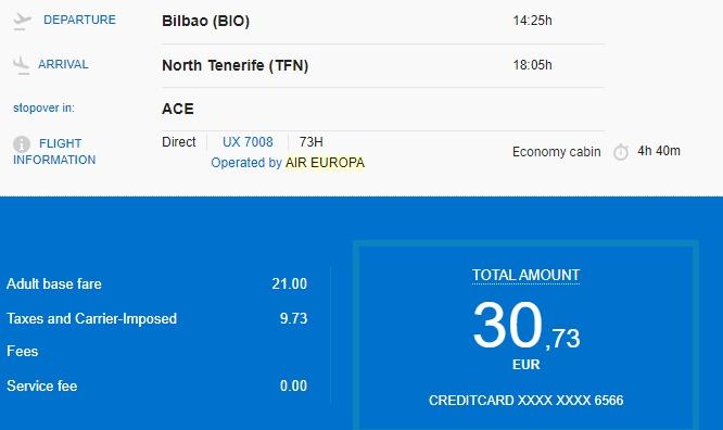 tani bilet Air Europa