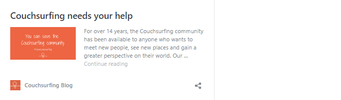 couchsurfing ned your support