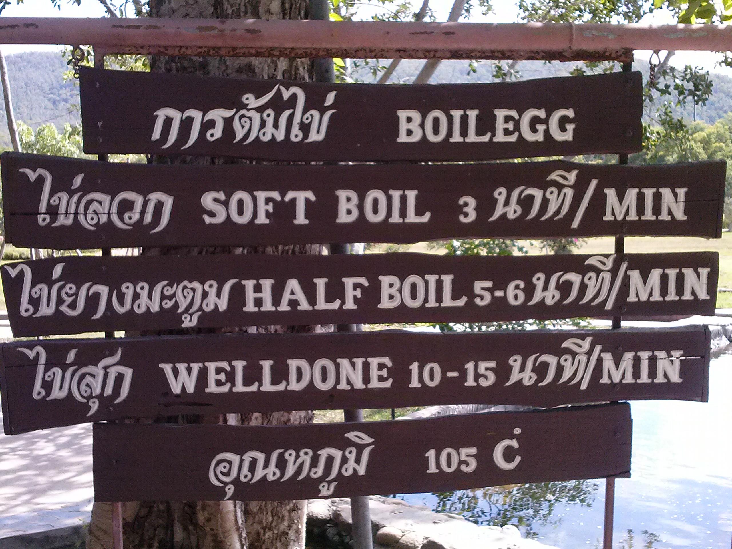gorące źródła Tajlandia