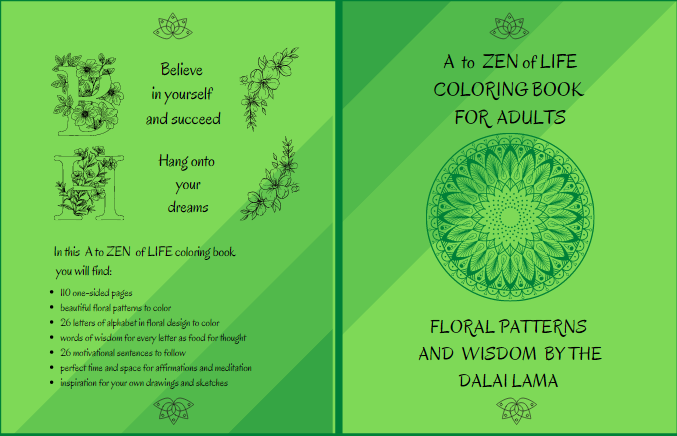 A to zen of life coloring book